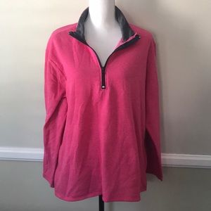 Just My Size Pink 1/4 zip sweater pullover 2X
